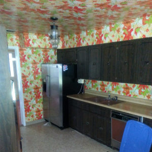 Kitchen before the remodel of the fix and flip loan by Colony American Finance