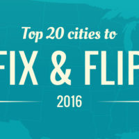 Infographic on the top 20 cities to Fix and Flip in 2016 by Colony American Finance